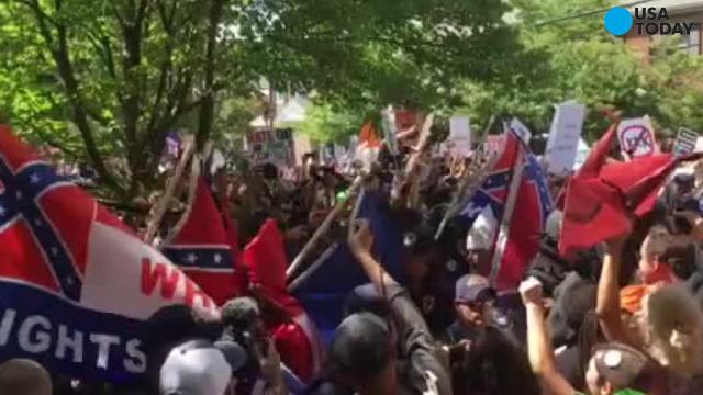 KKK speaks at Virginia rally, clashes with protesters