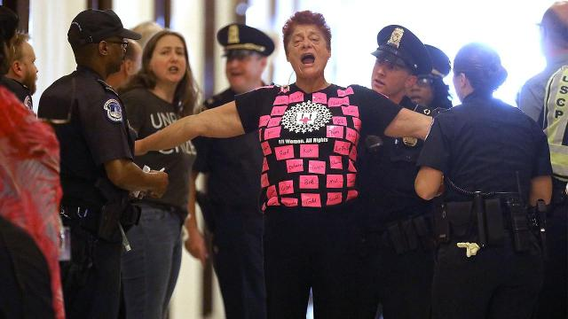 Capitol police arrest 80 people protesting GOP health care bill