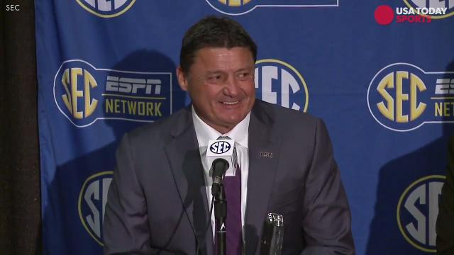 LSU players give their best impersonation of Ed Orgeron
