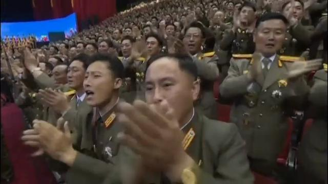 Raw: North Korea's Kim celebrates launch at concert