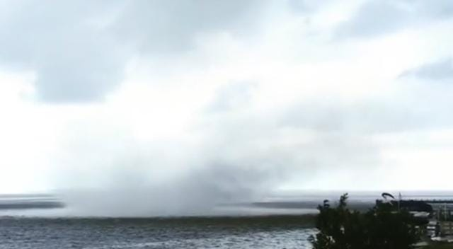 Giant water spout forms off North Carolina coast