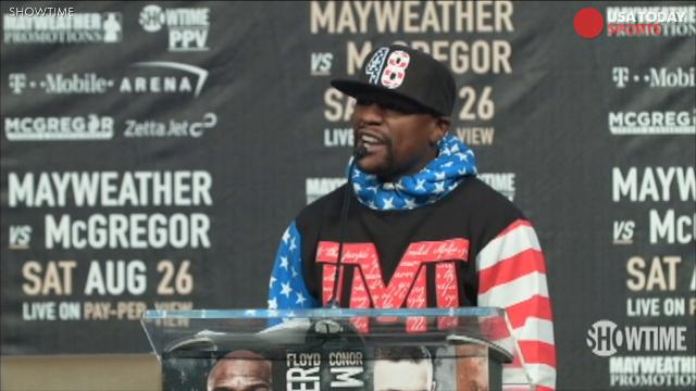 Who needs gloves when you can use your words? Floyd Mayweather and Conor McGregor exchanged jabs at their first joint news conference. And, yes, this is censored, but viewer discretion is still strongly advised.