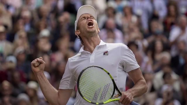 American Sam Querrey has eliminated a world No. 1 ranked player from Wimbledon for the second consecutive year.