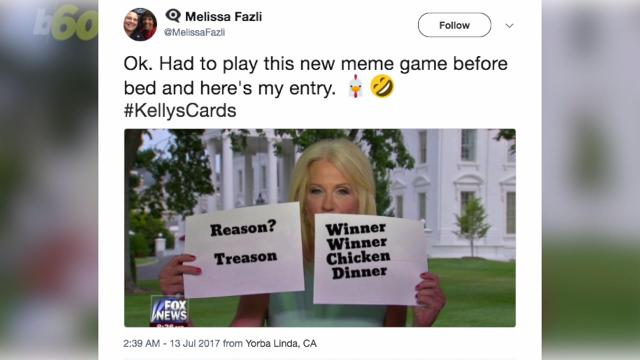 Kellyanne Conway uses flash cards, Twitter then can't help itself