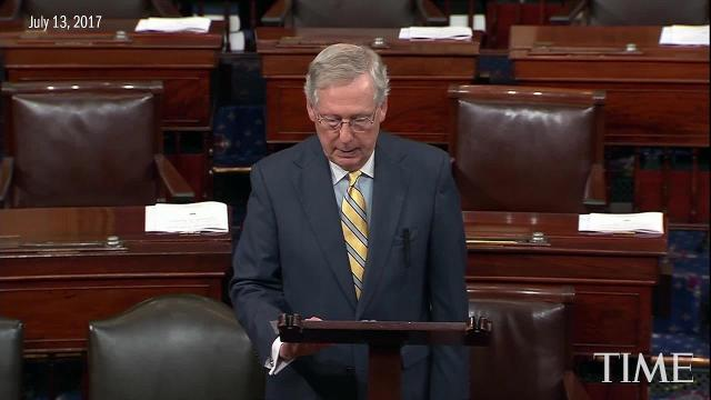 Mitch McConnell defends reworked health care bill
