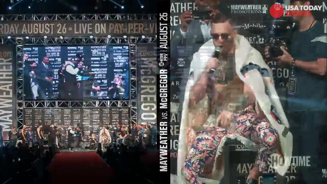 If you thought Floyd Mayweather and Conor McGregor would have run out of things to say on their third stop, you'd be very wrong.