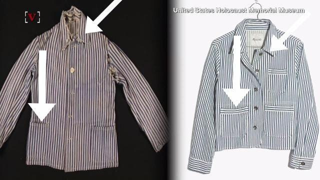 This Madewell jacket looks a lot like a concentration camp uniform