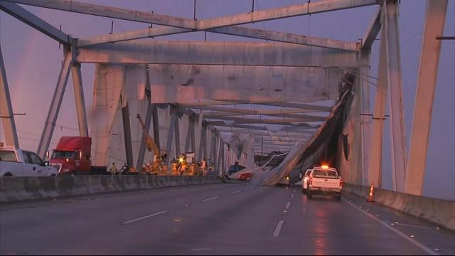 Bridge Reopens After Netting Collapse Traps Cars