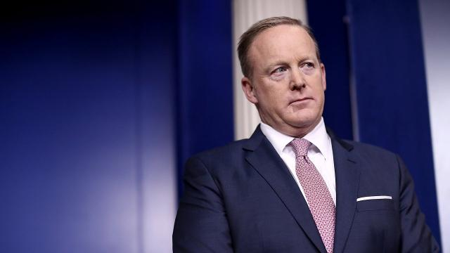 White House press secretary Sean Spicer is out