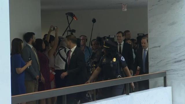 Raw: Kushner Arrives On Capitol Hill