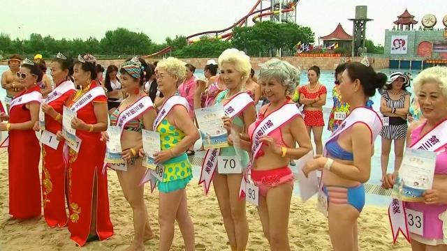A bikini competition aims to reinvent what it means to get older