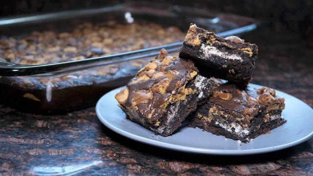 These Oreo stuffed brownies are decadent and delicious