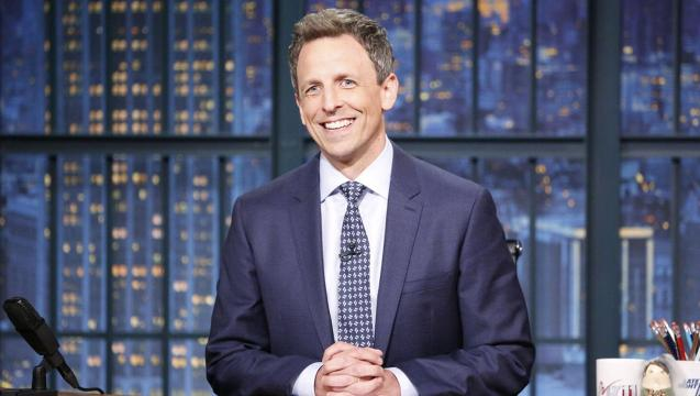 Seth Meyers gives a unique bye to the Spice and hello to the 'Mooch'