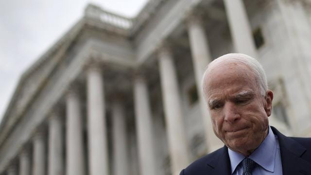 Sen. John McCain returns to the Senate to vote on health care