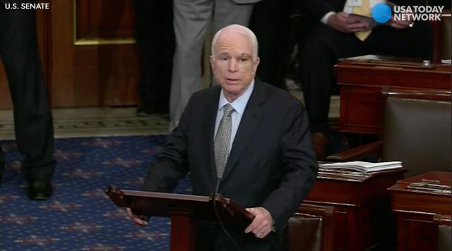 McCain's emotional speech to Senate: I'll be back