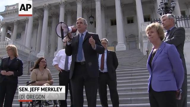 Dems protest health care bill outside Capitol