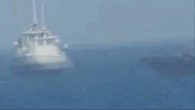 Raw: US Navy Fires Warning Shots Near Iran Ship