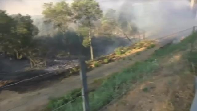 Raw: Fires force evacuations on French Riviera