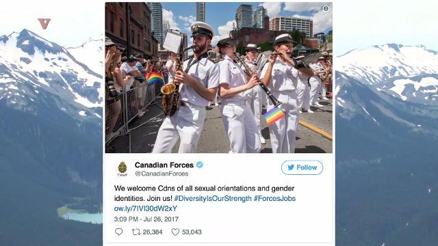 Canada trolls Trump over transgender military ban