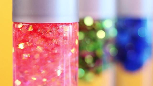 Glitter jars for keeping kids calm while you carry on