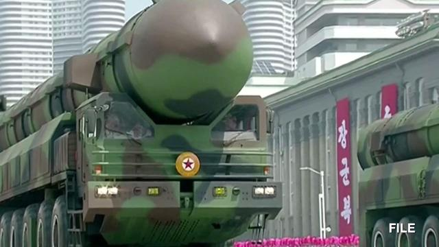 North Korea launches an ICBM into the Sea of Japan