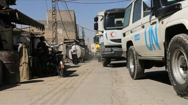 Besieged Syria area gets first aid in 5 years: UN