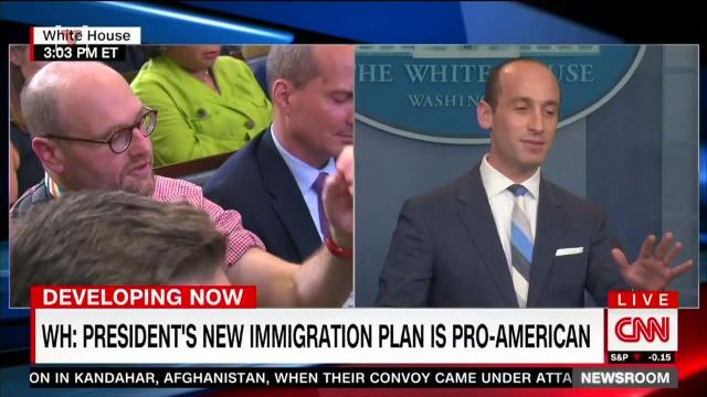 Stephen miller goes head to head with New York Times reporter