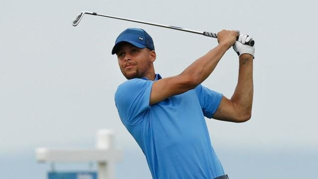 Stephen Curry impressed in his pro golf debut