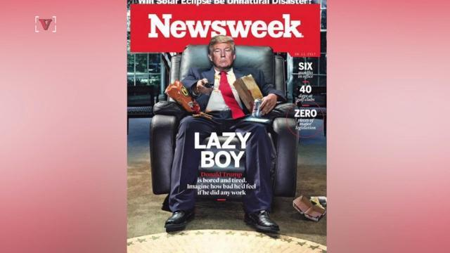 Newsweek's latest cover calls Donald Trump a 'lazy boy'