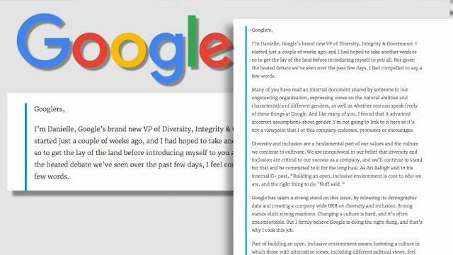 Google Engineer Blasts Its Workforce Diversity