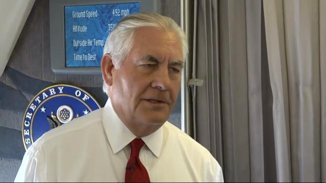 Tillerson urges calm, on North Korea