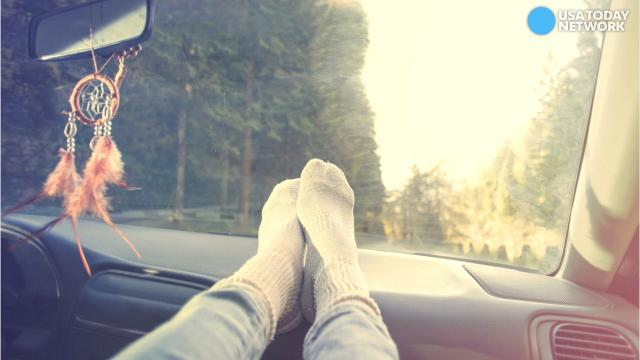 Why you should never put your feet on the car dash