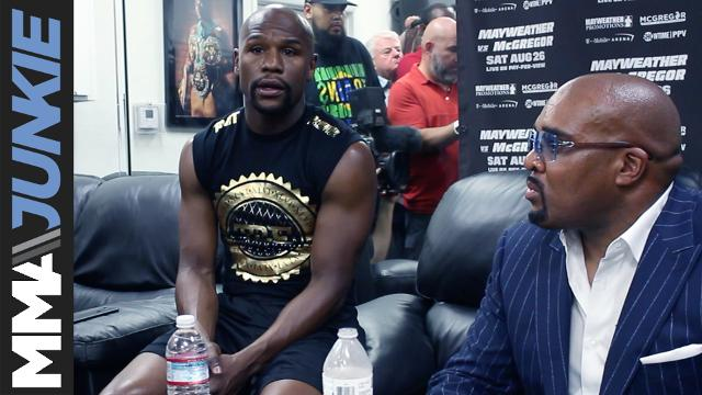 At a pre-fight media day at his gym in Las Vegas, Floyd Mayweather admits that if Conor McGregor goes the distance in their superfight, it's a victory for the UFC champ. Of course, Mayweather doesn't see that happening.