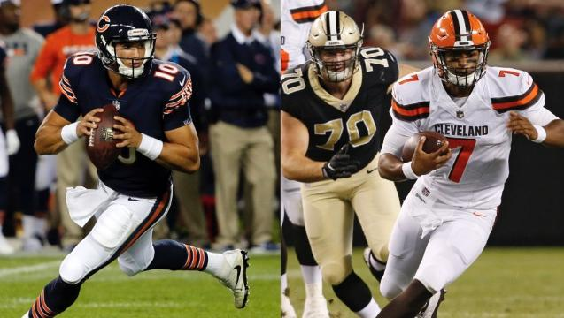 It's OK to be giddy about Trubisky, Kizer debuts