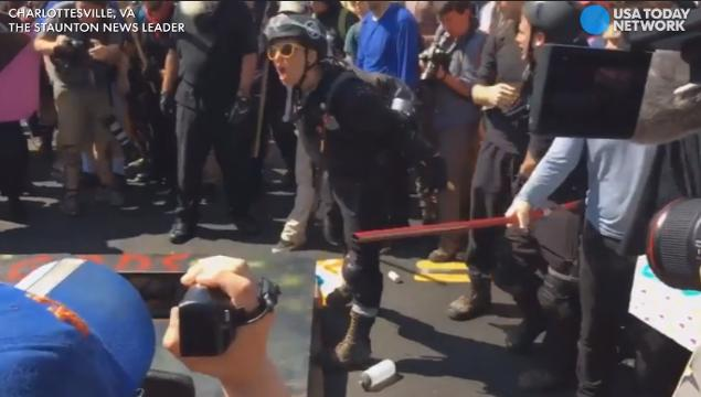 Fights break out in the street during alt-right protest