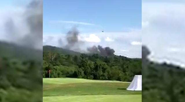 Smoke rises after helicopter crash in Charlottesville