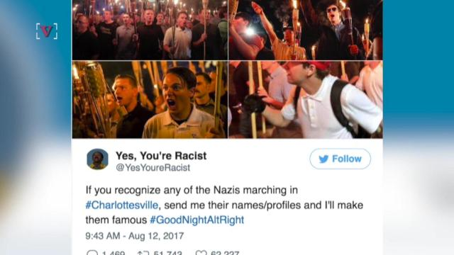 Charlottesville white supremacist protesters identified