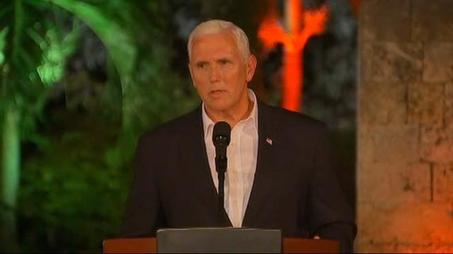 VP Pence: 'We have no tolerance for hate'