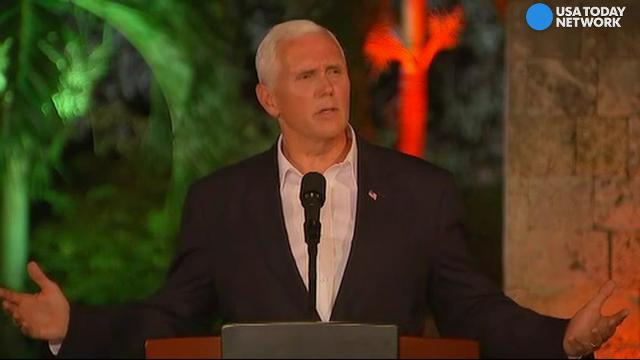 Pence 'takes issue' with media after Charlottesville
