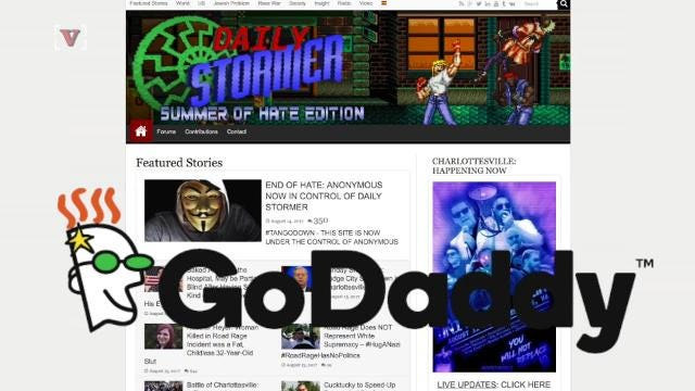 GoDaddy boots neo-Nazi site Daily Stormer