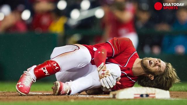 Nationals dodge a bullet on Bryce Harper injury