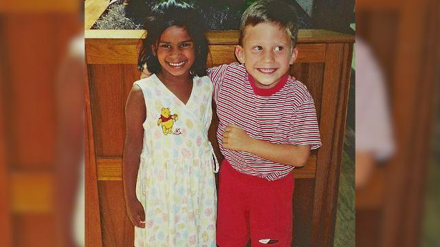 Kindergarten sweethearts marry 20 years later