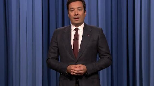 Jimmy Fallon gets emotional, addresses racism
