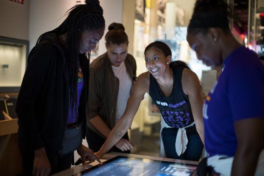 The Los Angeles Sparks took a guided tour of the National Museum of African American History and Culture in Washington D.C.