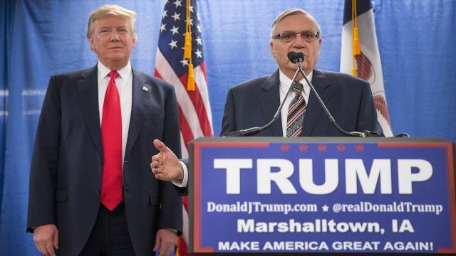 President Trump says he might pardon former Ariz. Sheriff Arpaio