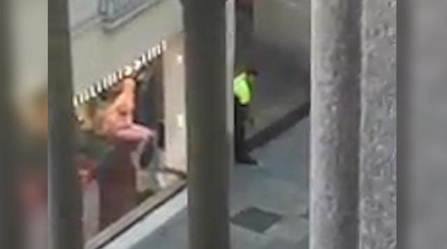 Video from Barcelona hotel shows police in streets