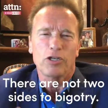 Arnold to Trump: \u0022There are not two sides to bigotry.\u0022