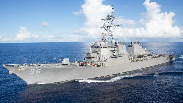 U.S. warship collides with tanker near Singapore, 10 sailors missing