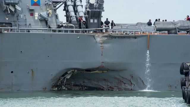 10 sailors missing after U.S. Navy warship collision