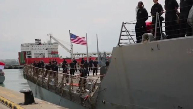USS John S. McCain at Singapore Naval Base
